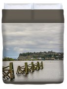 Cardiff Bay Dolphins Duvet Cover