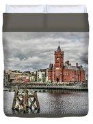 Cardiff Bay Skyline Duvet Cover
