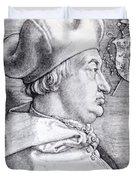 Cardinal Albrecht Of Brandenburg 1523 Duvet Cover