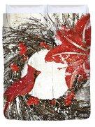 Cardinal Holiday I Duvet Cover