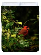 Cardinal In The Trees Duvet Cover