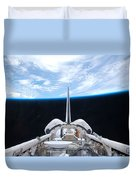 Cargo Bay Of Atlantis On Sts-132 Duvet Cover by Artistic Panda