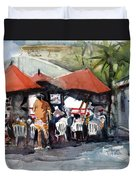 Caribbean Bar-theatre Barbados Style Duvet Cover