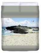 Caribbean Beach Scenic Duvet Cover