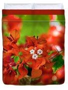 Caribbean Floral Surprise Duvet Cover