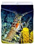 Caribbean Reef Lobster Duvet Cover