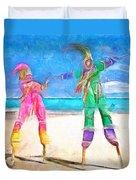 Caribbean Scenes - Moko Jumbie Duvet Cover