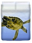 Caribbean Sea Turtle Duvet Cover