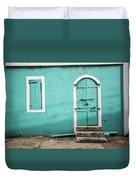Caribbean Storefront Duvet Cover