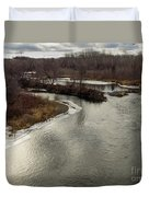 Caribou Stream Looking East Duvet Cover