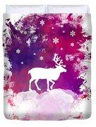 Caribou Winter Art Duvet Cover