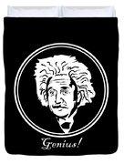 Caricature Of Albert Einstein Genius Duvet Cover