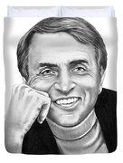 Carl Sagan Duvet Cover by Murphy Elliott