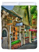 Carmel, Ca. The Shops Of Ocean Ave. Duvet Cover