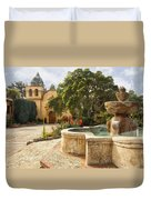Carmel Church And Fountain Duvet Cover
