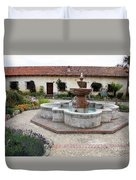 Carmel Mission Courtyard Duvet Cover
