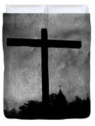 Carmel Mission Cross Duvet Cover