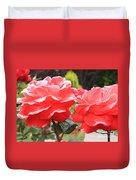 Carmel Mission Roses Duvet Cover