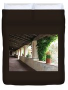 Carmel Mission Walkway Duvet Cover