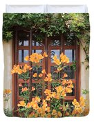 Carmel Mission Window Duvet Cover