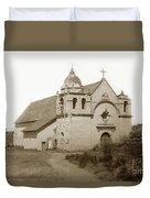 Carmel Mission  With The New Peaked Roof  1884 Duvet Cover