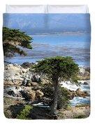 Carmel Seaside With Cypresses Duvet Cover