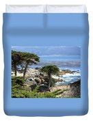 Carmel Seaside With Cypresses Duvet Cover