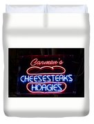 Carmens Cheesesteaks Duvet Cover