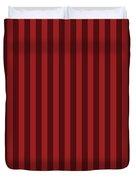 Carmine Red Striped Pattern Design Duvet Cover