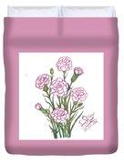 Carnation Pink Duvet Cover