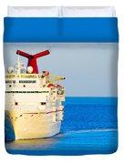 Carnival Cruise Ship Duvet Cover