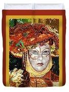 Carnivale Mask #12 Duvet Cover