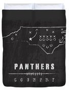 Carolina Panthers Art - Nfl Football Wall Print Duvet Cover