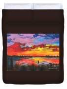 Carolina Sunset Duvet Cover