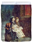 Carols For Sale  Duvet Cover by Augustus Edward Mulready