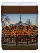Carousel At Dusk Duvet Cover
