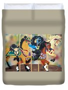 Carousel Beauties Duvet Cover