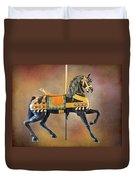 Carousel Black Stallion Body Duvet Cover