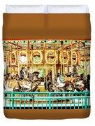 Carousel - Como Zoo, St. Paul, Minnesota Duvet Cover
