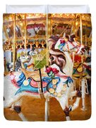 Carousel Dreams Duvet Cover