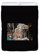 Carousel Horse And Angel Duvet Cover