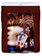 Carousel Horse Portrait Duvet Cover