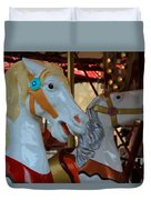 Carousel Horses At A Fair Duvet Cover