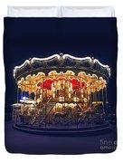 Carousel In Paris Duvet Cover
