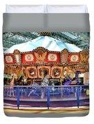 Carousel Inside The Mall Duvet Cover