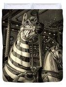 Carousel Zebra Duvet Cover