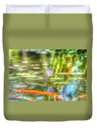 Carp And Lily Duvet Cover