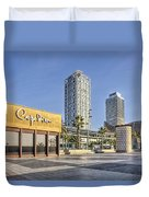 Carpe Diem In Barcelona Catalonia Duvet Cover