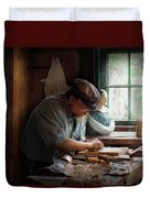 Carpenter - Carving The Figurehead  Duvet Cover