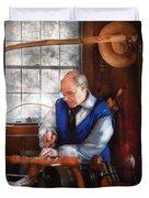 Carpenter - The Woodturner Duvet Cover